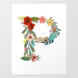 Monogram Letter P Art Print