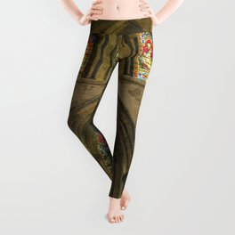 Rochester Cathedral Stained Glass Windows Art Leggings