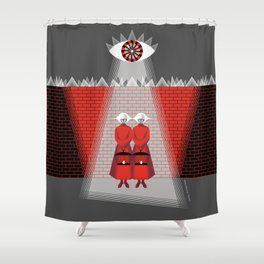 The Wall - The Red Handmaid Collection by ©2018 Balbusso Twins Shower Curtain