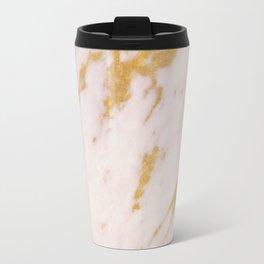 Rose Marble and Gold Travel Mug