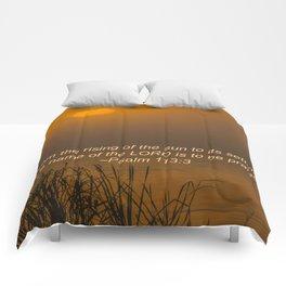 Psalm 113:3 Sunrise Comforters