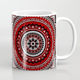 Red and Black Mandala Coffee Mug