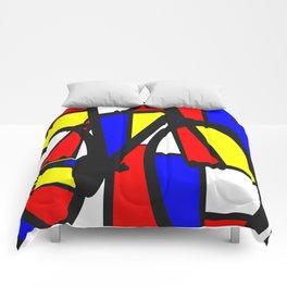 Mondrianesque road bike Comforters