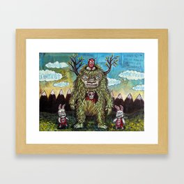 Face Plant Framed Art Print