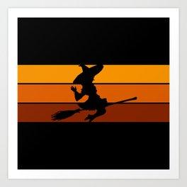 Witch - Orange Art Print
