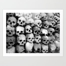 UNNESSASARY SACRIFICES // Skulls of Cambodia Killing Fields Art Print