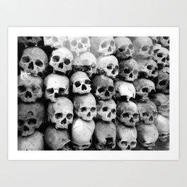 UNNESSASARY SACRIFICES // Skulls of Cambodia Killing Fields Art Print