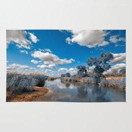 Kruger Park Landscape - Winter Blue Rug