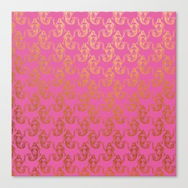 Pink Gold Mermaids Canvas Print