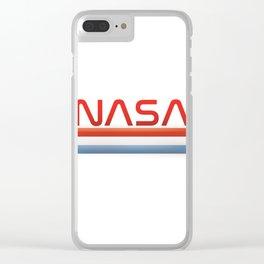 NASA Three Stripes Logo Clear iPhone Case