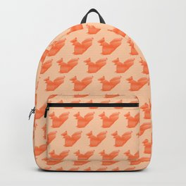 Allergic to Nuts - Origami Orange Squirrel Backpack