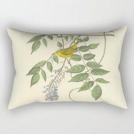 Blue-eyed Yellow Warbler by AUDUBON Rectangular Pillow