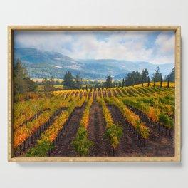 Autumn Vineyard Vista Serving Tray