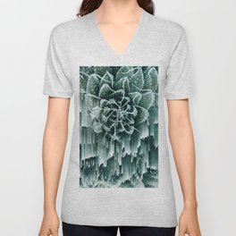Succulent Glitches Unisex V-Neck