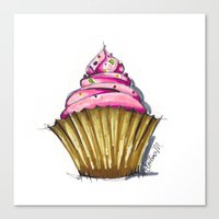 cupcake Canvas Prints featuring Cupcake by Svitlana M