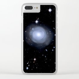 Distant galaxies. Clear iPhone Case