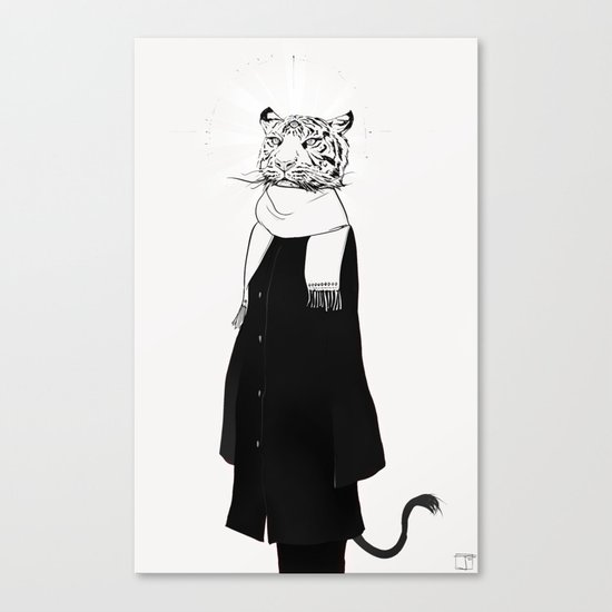 Tigress with scarf Canvas Print