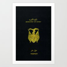 Old Kuwaiti Passport Art Print