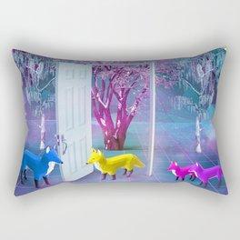 Fox Family Rectangular Pillow