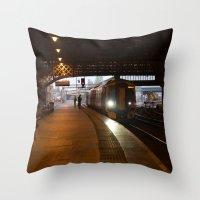 train Throw Pillows featuring Train by RMK Creative