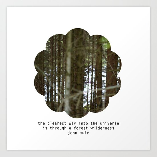 the clearest way into the universe Art Print