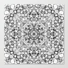 Black Abstract Mandala Canvas Print