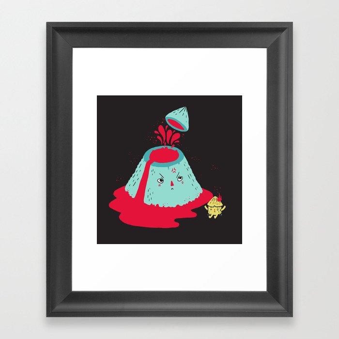 Watch Your Temper Framed Art Print