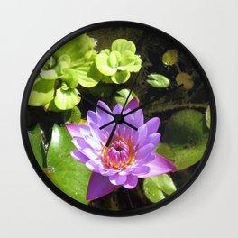 Purple Lilly Wall Clock