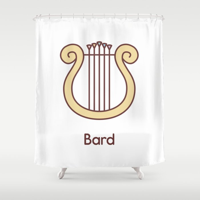 Cute Dungeons and Dragons Bard class Shower Curtain