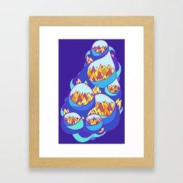 Mt. Bubbles Framed Art Print