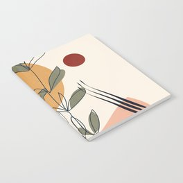 Minimal Line Young Leaves Notebook