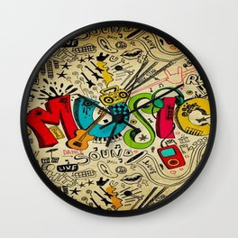 Music Love Wall Clock