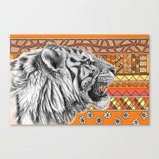 White tiger profile G001-012 Canvas Print