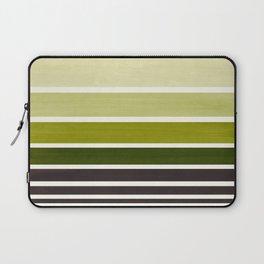 Olive Green Minimalist Watercolor Mid Century Staggered Stripes Rothko Color Block Geometric Art Laptop Sleeve