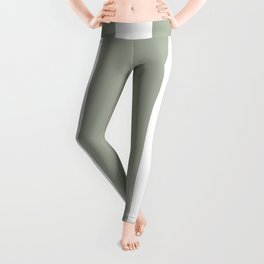 Desert Sage Grey Green Circus Tent Stripe Leggings