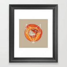 Geometric Fox Framed Art Print