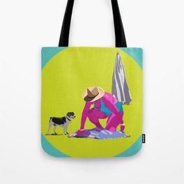 Señora y perro Tote Bag