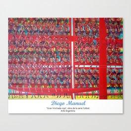Gran hinchada roja por Diego Manuel. Canvas Print