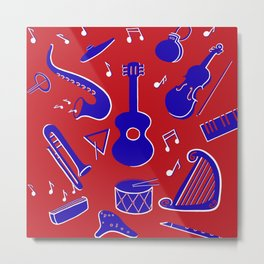 Musical Instruments Metal Print