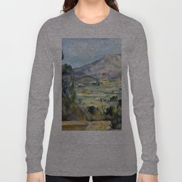 1890 - Paul Cezanne - Montagne Saint-Victoire Long Sleeve T-shirt