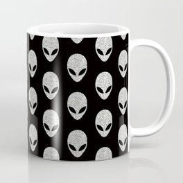 Glitter Grey Aliens Coffee Mug