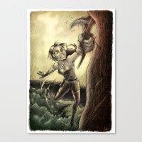 megan lara Canvas Prints featuring Lara by forzapedro