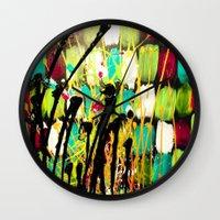 ruben Wall Clocks featuring Ruben by Del Otero Art