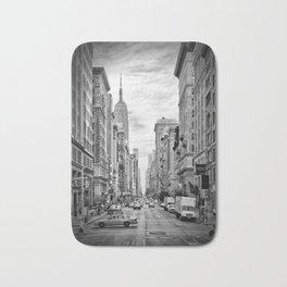 NEW YORK CITY 5th Avenue | Monochrome Bath Mat