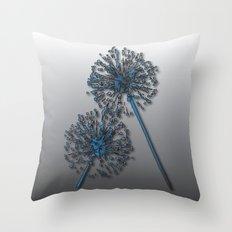 Abstract Dandelion Snowball Throw Pillow