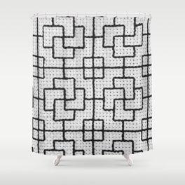 Vintage Window Grille Cross Stitch Pattern #6 Shower Curtain