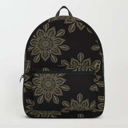 Boho Floral Arabesque Mandalas Backpack