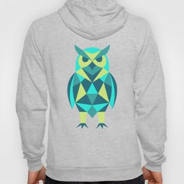 Colourful Geometric Owl Hoody