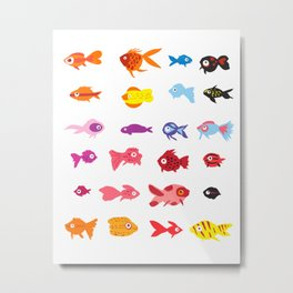 Fish collection Metal Print