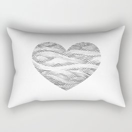 black heart, love valentines Rectangular Pillow